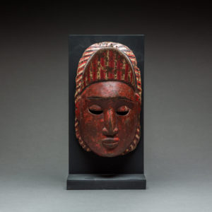 Wooden Polychrome Mask 1