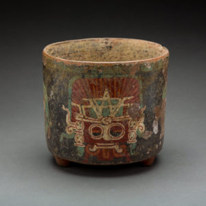 Teotihucan Polychrome Cylindrical Bowl 1