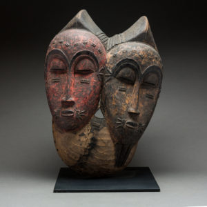 Baule Bicephalous Wooden Mask 2