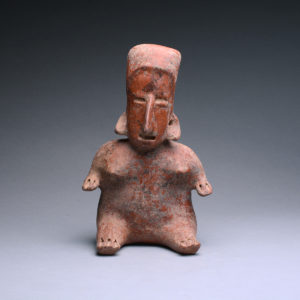 San Juanito Style Jalisco Terracotta Sculpture of a Seated Woman 1