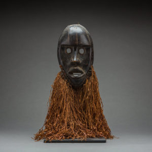 Dan Wooden Gunyega Mask with Raffia Beard 1
