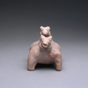 Jalisco Sculpture of a Dog with a Pup 1
