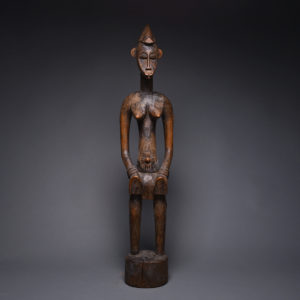 Female Senufo Wooden Pombilele Rhythm Pounder 1
