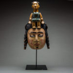 Ibibio Colonial Polychrome Dance Mask 1