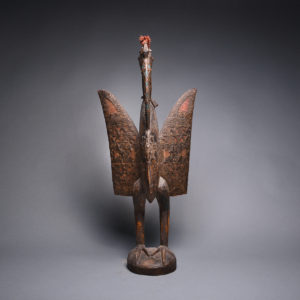 Senufo Wooden Sculpture of a Bird 1