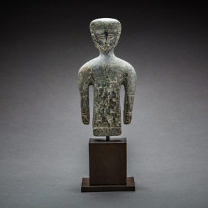 Elamite Stone Sculpture of a Half-Length Male Figure 1
