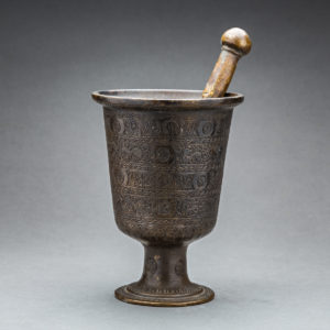 Bronze Qajar Pestle and Mortar 1