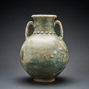 Parthian Pale Green Glazed Terracotta Amphora 1