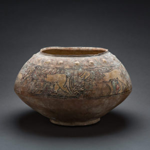 Large Terracotta Vessel with Lion Motifs 1