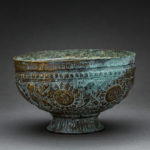 Seljuk Repoussé High Tin Footed Bowl 1