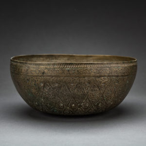 Bronze Alloy Engraved Basin 1