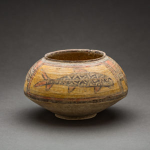 Painted Terracotta Bowl with Fish Motif 1