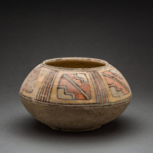 Polychrome Painted Terracotta Bowl with Geometric Designs 1