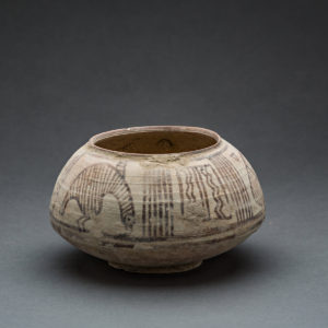 Indus Valley Terracotta Bowl Decorated with Geometric and Zoomorphic Designs 1