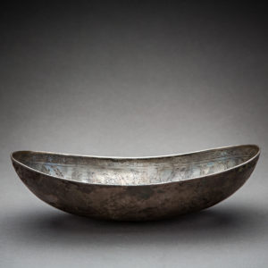 Sassanid oval vessel with acquatic birdds and fish 1