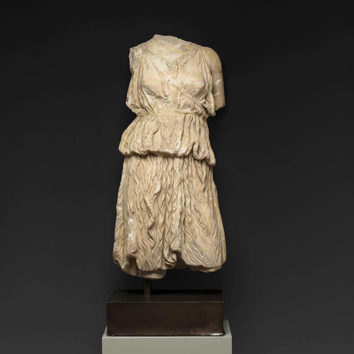Roman Marble Torso of the Goddess Diana - Barakat Gallery