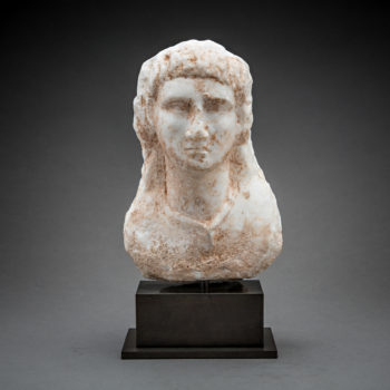 Roman Marble Bust of a Man (Possibly Emperor Vitellius