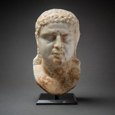 Hellenistic Marble Head of Alexander the Great | Barakat